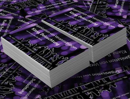Visitenkarten Für Vip Events Grafikdesign Augsburg Süd